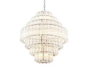 Chandelier - 18 Light - 7 Tiered - Cut Clear Crystal - Chrome - Large