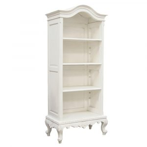 Bookcase - Carved Design - 3 Shelf - French Antique White