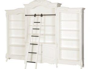 Bookcase - Triple Bookcase & Shelves - Extra Large - French Antique White