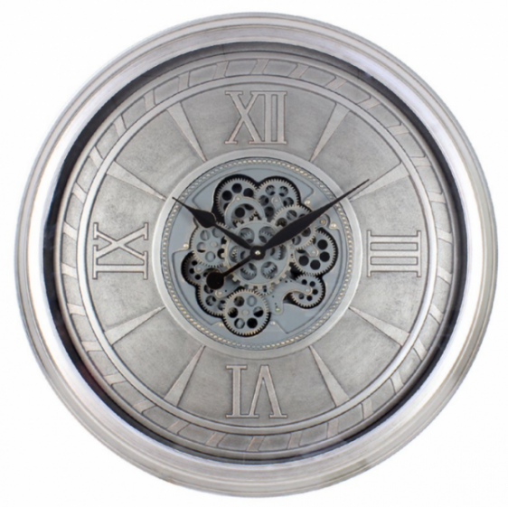 Wall Clock - Large Round Moving Cog