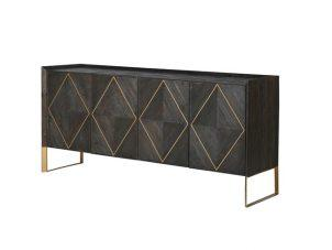 Sideboard - 4 Door - Brushed Elm and Copper Finish