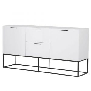 Sideboard - 2 Door 2 Drawer - High Gloss White Finish Sideboard