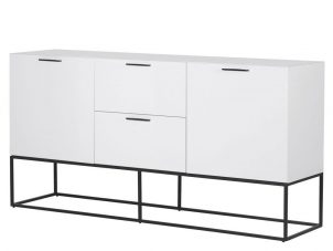 Sideboard - 2 Door 2 Drawer - High Gloss White Finish Sideboard