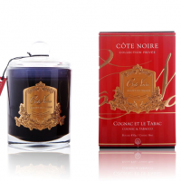 'Cognac & Tobacco' Scented Candle - Cote Noire Glass Scented Candle -100 Hours