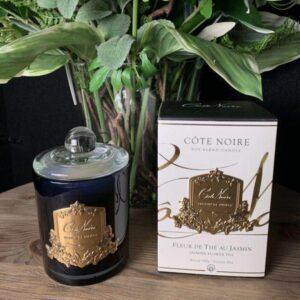 'Jasmine Flower Tea' Scented Candle - Cote Noire Glass Design -100 Hours
