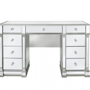 Dressing Table - Silver Edged - 9 Drawers - Mirrored Furniture Range