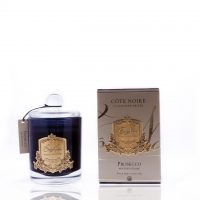 'Prosecco' Scented Candle - Cote Noire Glass Scented Candle -100 Burning Hours