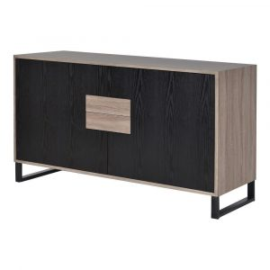 Sideboard - 2 Door 2 Drawer - Internal Shelves - Ash Wood Design