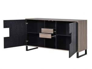 Sideboard - 2 Door 2 Drawer - Internal Shelves - Ash Wood Design