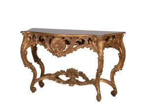 Console Table - Heavy Carved Surround - Antique Gilt Range
