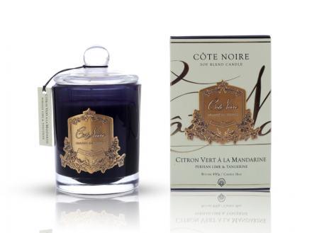 'Persian Lime & Tangerine' Scented Candle - Cote Noire Glass Scented Candle -100 Hours