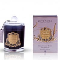 'Pink Champagne Rose' Scented Candle - Cote Noire Glass Scented Candle -100 Hours