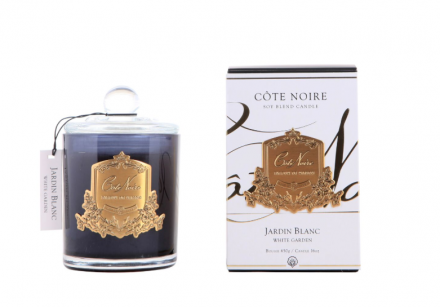 'White Garden' Scented Candle - Cote Noire Glass Scented Candle -100 Hours