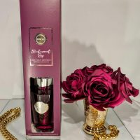 Blackcurrant Rose Reed Diffuser - Shaped Glass Bottle - 300ml