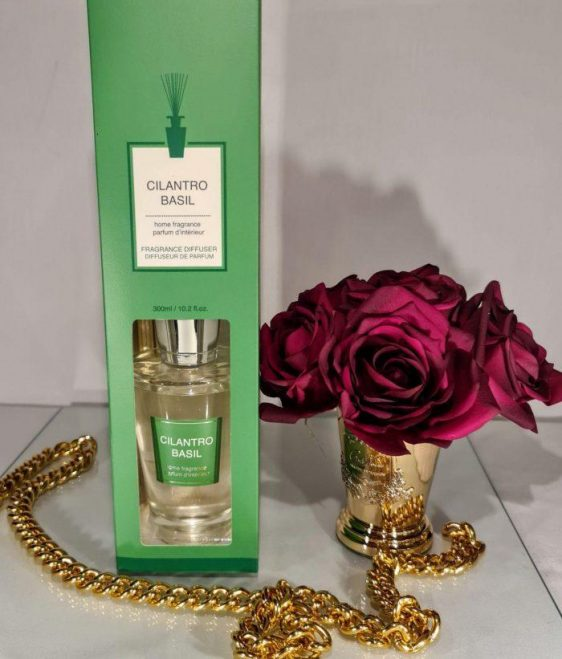 Cilantro & Basil Reed Diffuser - Shaped Glass Bottle - 300ml