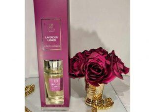 Lavender Lemon Reed Diffuser - Shaped Glass Bottle - 300ml