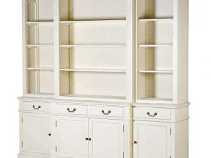 Bookcase - 4 Door 4 Drawer Breakfront Design - Ascot Furniture Range