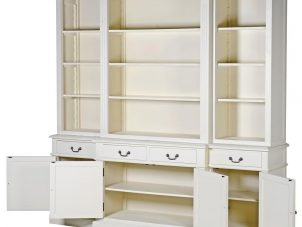 Bookcase - 4 Door 4 Drawer Breakfront Design - Ascot Furniture Range