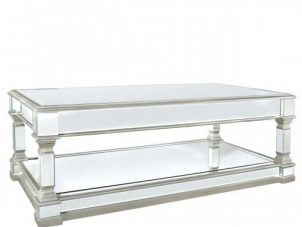 Coffee Table - Silver Edged - Mirrored Furniture Range
