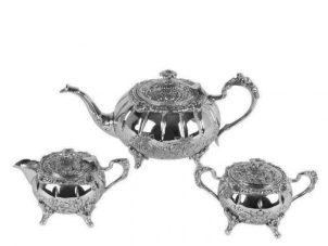 Tea Set - Intricate Design - Tea Pot - Sugar Bowl - Milk Jug Set