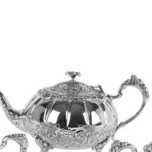 Tea Set - Intricate Design - Tea Pot - Sugar Bowl - Milk Jug Set