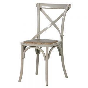 Dining Chair - Wood Base X Back Design - Wiltshire Furniture Range