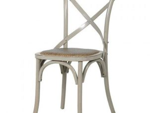 Dining Chair - Wood Base X Back Design - Wiltshire Furniture Range