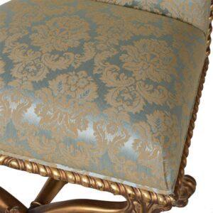 Dining Chair - Green & Gold Silk Upholstered - Antique Gilt Range