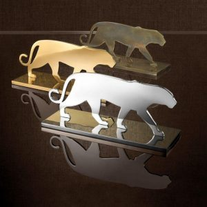 Panther Statue - Heavy Brass Design - Silhouette Design