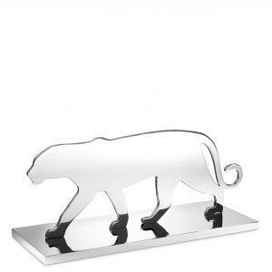 Panther Statue - Heavy Chrome Finish - Silhouette Design
