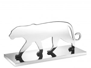 Panther Statue - Heavy Chrome Design - Silhouette Design