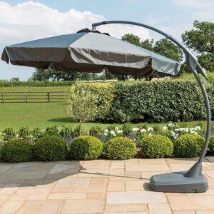 Garden Banana Parasol - Grey - Canopy 300cm
