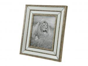 "Photo Frame - Champagne Gold Surround - Mirrored Finish - 8"" x 10"""