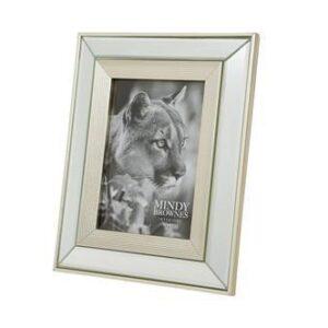 "Photo Frame - Champagne Surround - Mirrored Finish - 7"" x 5"""