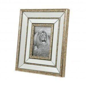 "Photo Frame - Champagne Gold Surround - Mirrored Finish - 6"" x 4"""