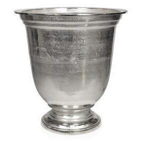 Vase/Urn - Carved Design - Polished Hammered Metal Finish