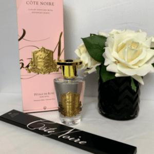 'Rose Petal' Reed Diffuser - Cote Noire Glass Bottle -150ml