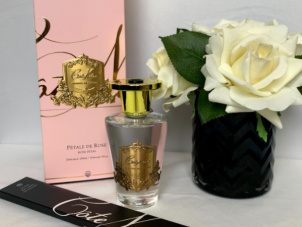 'Rose Petal' Reed Diffuser - Cote Noire Glass Bottle -150ml