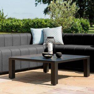 Garden Corner Sofa - All Weather Fabric - Coffee Table - Grey