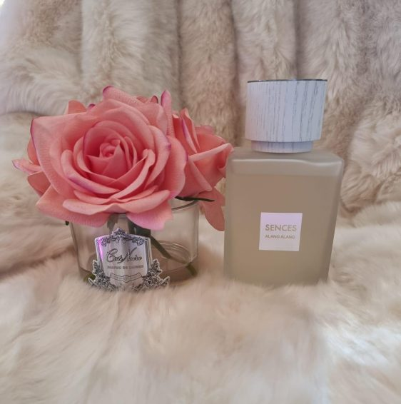 'Ylang Ylang' Scented Reed Diffuser - Frosted Glass Bottle - 500ml