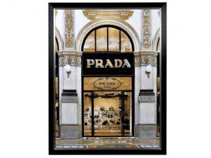 Prada Wall Art - Large Black Framed - Designer Store Front Design