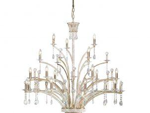 Chandelier - 21 Light - French Gold Crystal & Brass - Large