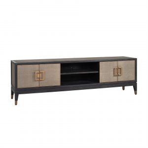 TV Unit - 4 Door - Shelves - Inlaid Oak Lined - Banbury Range