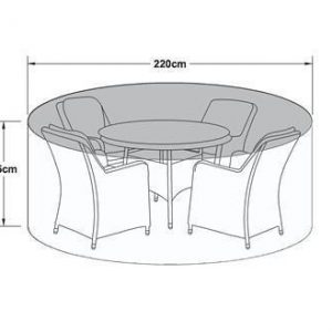 4 Seat Outdoor Dining Set Cover - All Weather - Round