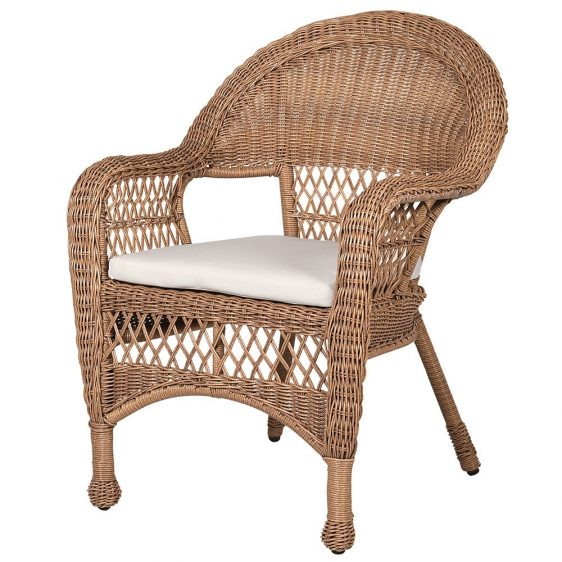 6 Seat Garden Dining Table Set - Heritage Chairs - Natural Wicker Rattan
