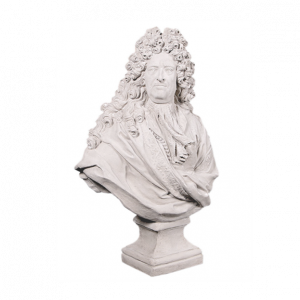 Louis XIV Bust - Large Abstract Sculpture - Roman Stone Finish