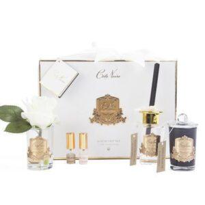 'Blonde Vanilla' Luxury Cote Noire Flower Diffuser Gift Set - White Box