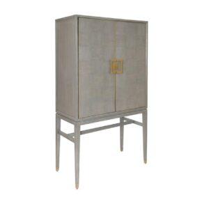 2 Door Drinks Cabinet - Grey Inlaid Oak - Georgia Furniture Range