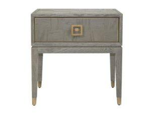 Lamp/Side Table - Grey Inlaid Oak - 1 Drawer - Georgia Furniture Range