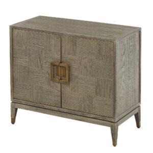 2 Door Cabinet - Grey Inlaid Oak - Georgia Furniture Range